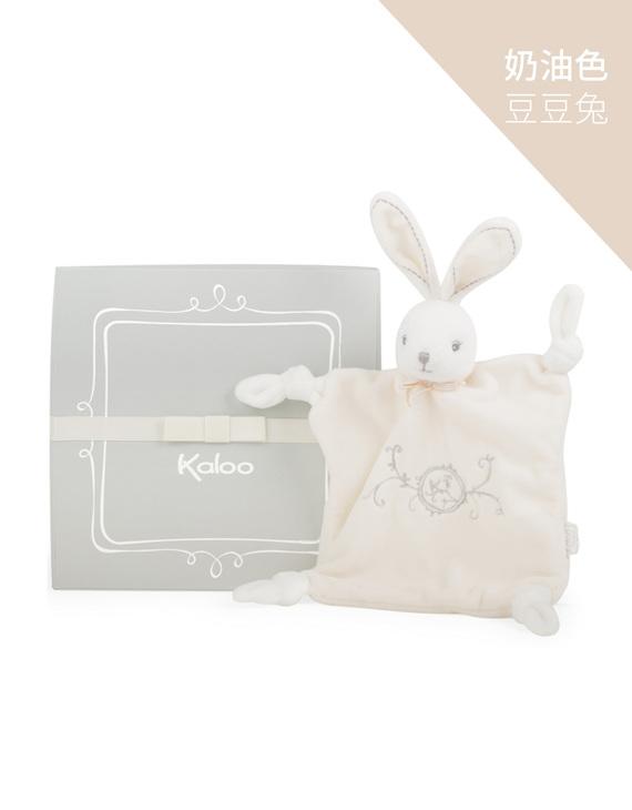 Kaloo初生安抚毛巾 奶油色豆豆兔