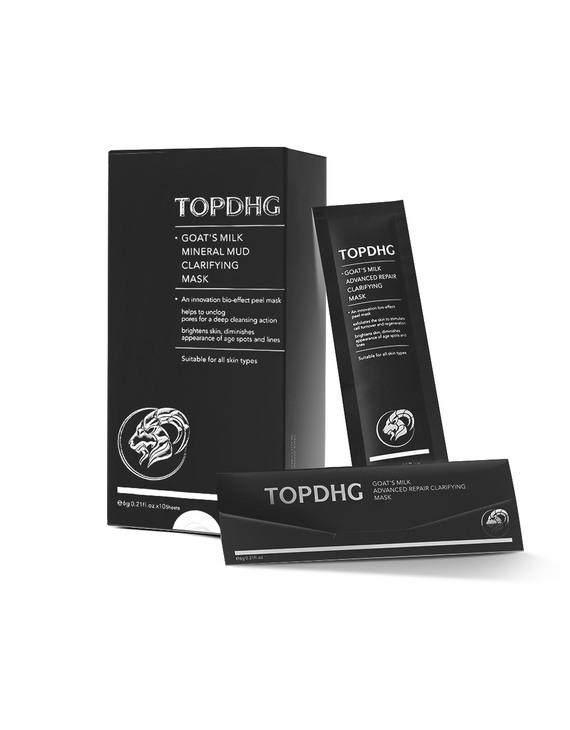 TOPDHG山羊奶火山泥焕颜清洁蛋壳面膜 15片/盒
