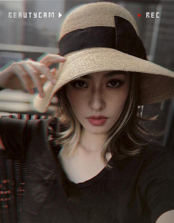 拉菲草蝴蝶结渔夫草帽(贴身物品除质量问题不退货)