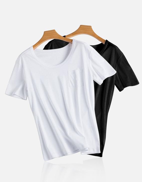 70支丝光棉高品质T恤2件装