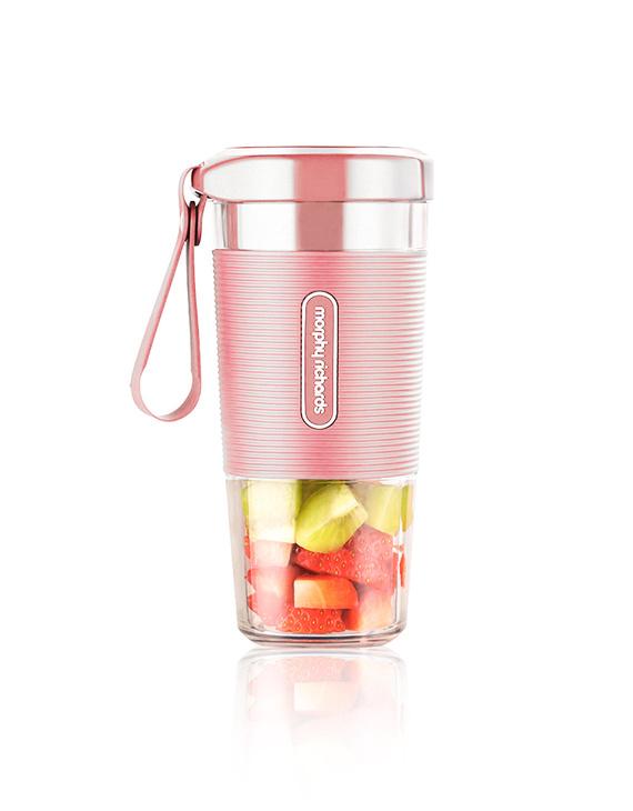 【李佳琪推荐】摩飞便携充电式榨汁机MR9600 小型家用榨汁杯电动果汁机迷你料理水果汁杯 粉色