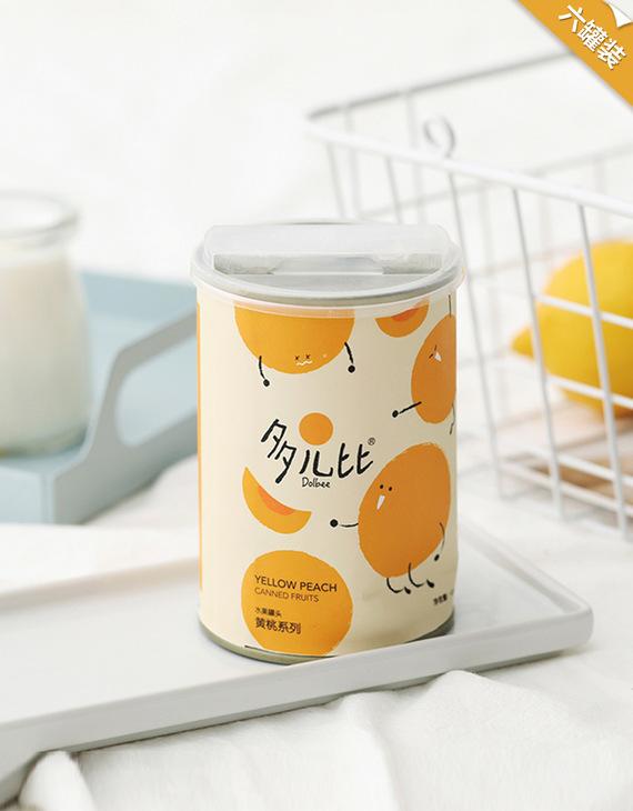 【六件装】多儿比黄桃水果罐头425g