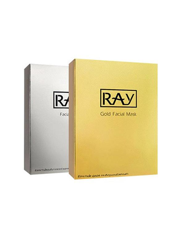 【泰版】RAY 银色补水保面膜 10片 + 金色修复痘印面膜 10片 组合装