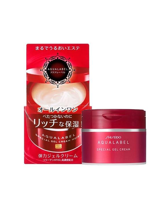 【新旧随机】SHISEIDO/资生堂 AQUALABEL 五合一面霜 红色 90G