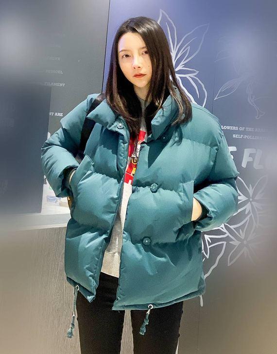 【四色可选】韩版立领加厚保暖纯色棉服(不退换)