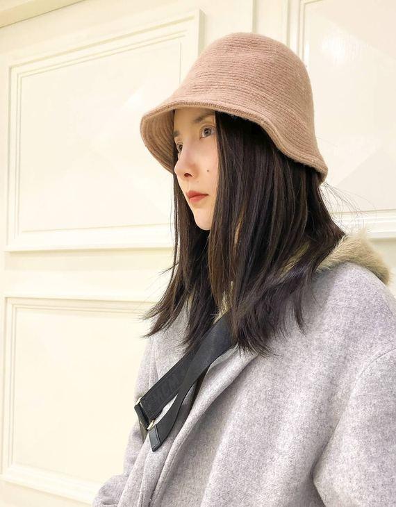 【两色可选】纯色羊毛渔夫帽(不退换)
