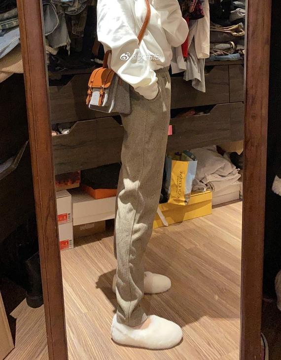 【两色可选】格子毛呢裤(不退,可换尺码)