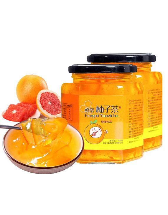 【两瓶装】序木堂 蜜炼蜂蜜柚子茶500g/瓶(不发货地区看详情)