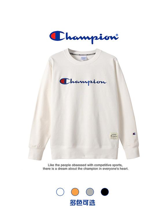 【男女同款】Champion 冠军经典刺绣圆领卫衣(不退换)(湖北、新疆、西藏)