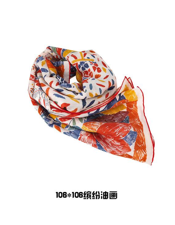 【三款可选】100%桑蚕丝大方巾(106*106cm)