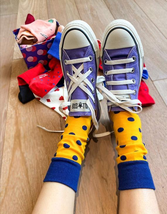 【买五双赠一双】ALMOND ROCKS原创设计袜 五双装(不退换)