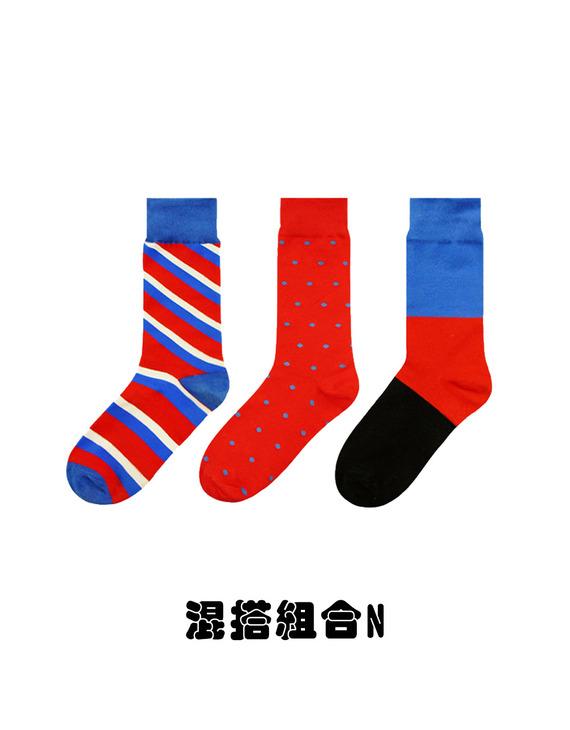 【买五双赠一双】【三款可选】ALMOND ROCKS原创设计袜 三双装(不退换)