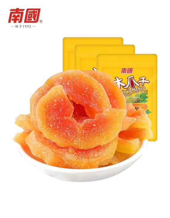 南国食品专场 木瓜干(116gX3袋)(偏远六省不发货)
