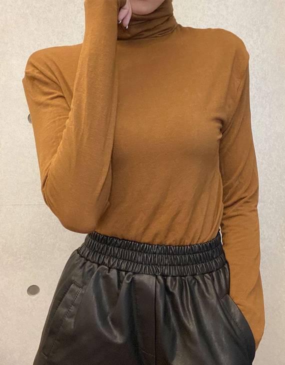 【多色可选】暖羊绒发热保暖高领打底衫(不退换)
