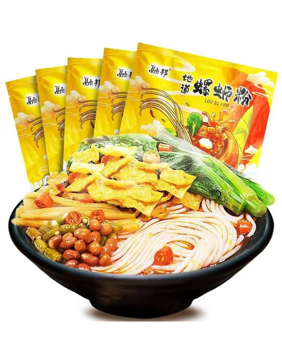 融邦广西柳州风味螺狮粉 300gx5袋(不退换)