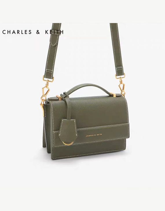 【两色可选】CHARLES&KEITH 小CK 翻盖斜跨单肩包 CK250780732 (不退换)(新疆西藏不发货)
